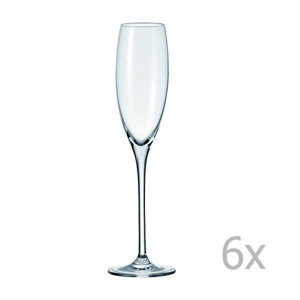 Sada 6 pohárov na sekt LEONARDO Cheers, 220 ml