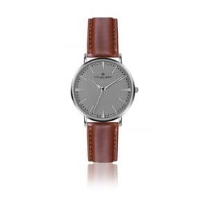 Pánske hodinky so svetlohnedým remienkom z pravej kože Frederic Graff Silver Eiger Cognac Leather