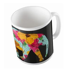 Keramický hrnček Flower Elephant, 330 ml