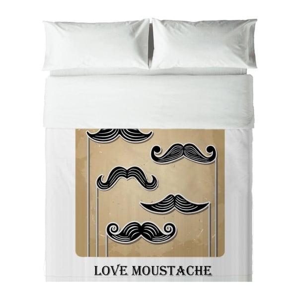 Obliečky Hipster Love Moustache, 140x200 cm
