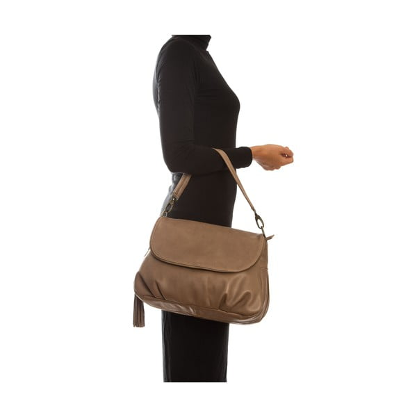 Hnedá kožená kabelka Sofia Cardoni Cristina Fango