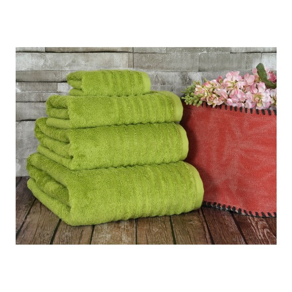 Limetkový uterák Irya Home Wellas Bamboo, 30x50 cm