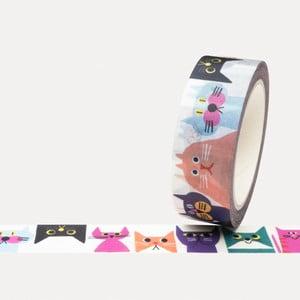 Washi páska U Studio Design Cat Gang, dĺžka 4 m