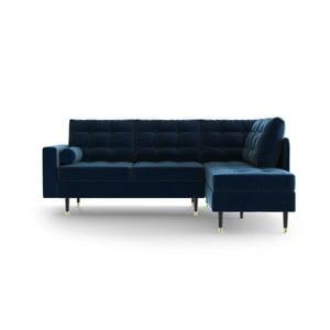 Tmavomodrá rohová pohovka Daniel Hechter Home Aldo Dark Blue, pravý roh