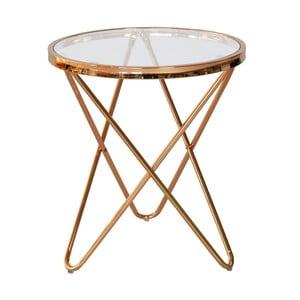 Sklenený odkladací stolík RGE Melissa, Ø45 cm