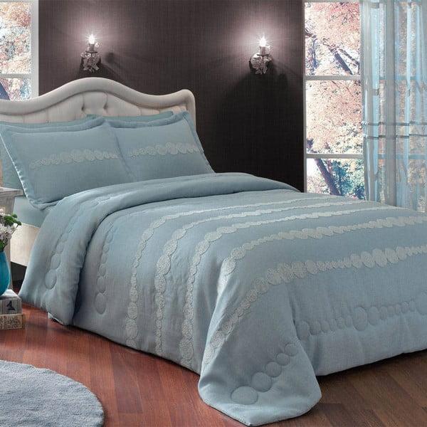 Sada prikrývky a obliečky na vankúš TAC Dreamy Blue, 180x240 cm