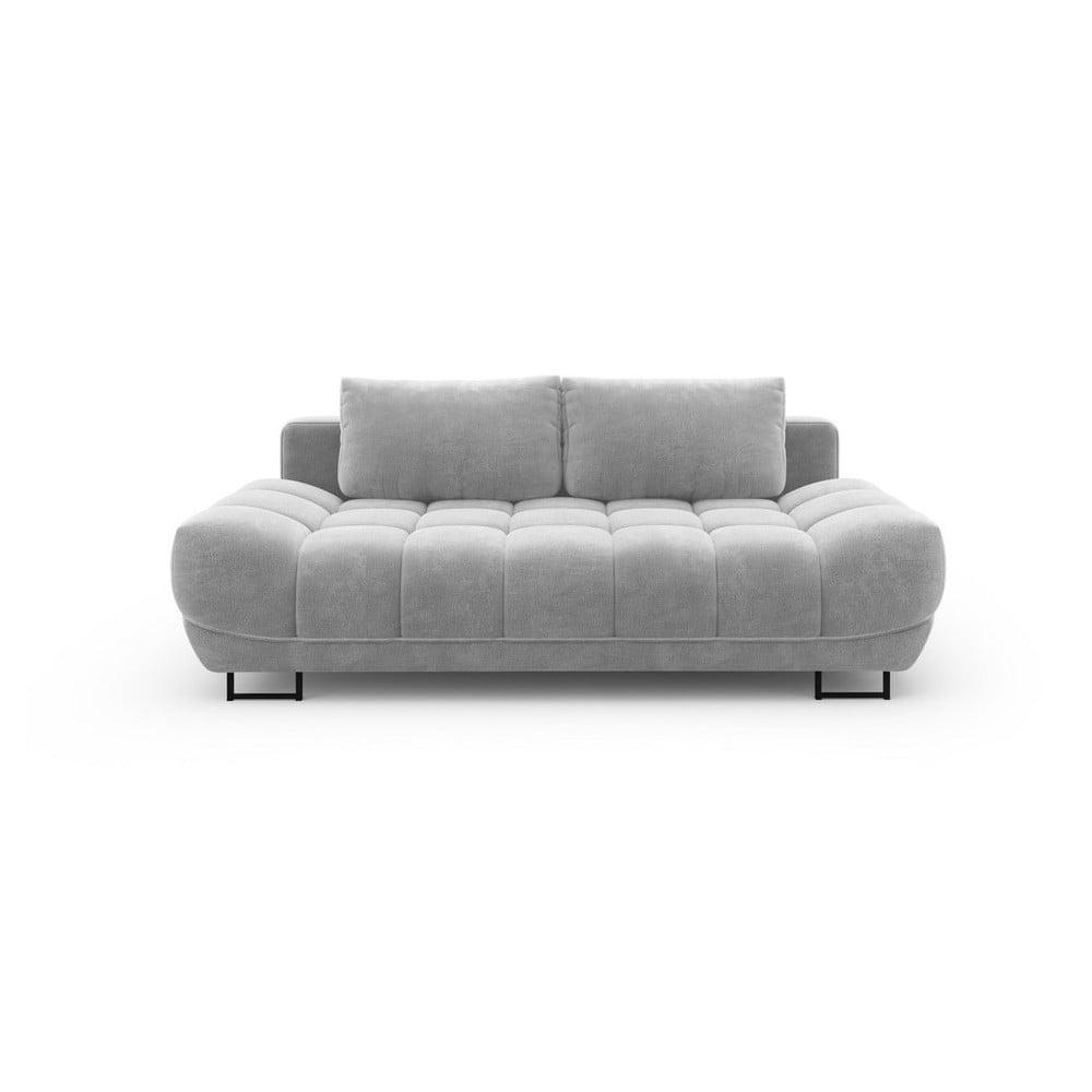 Svetlosivá trojmiestna rozkladacia pohovka so zamatovým poťahom Windsor & Co Sofas Cirrus