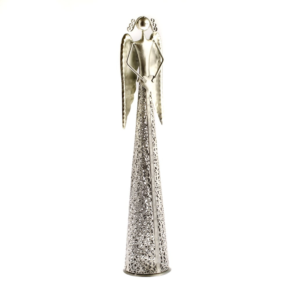 Kovová dekorácia v tvare anjela Dakls Angel, výška 9,5 cm