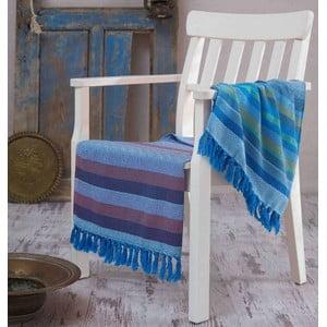 Hammam osuška Renkli Blue, 100 x 180 cm