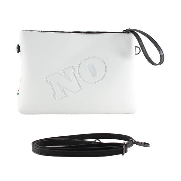 Neoprénová listová kabelka Yes/No, biele