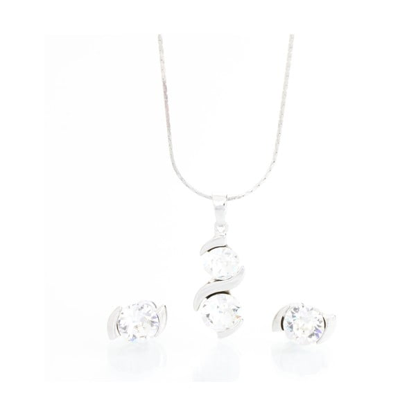Sada náhrdelníka a náušníc Swarovski Crystals Laura Clear