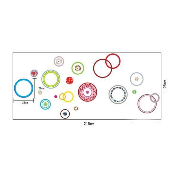 Dekoratívna samolepka Farebné kruhy, 215x95 cm