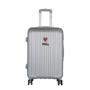 Svetlosivý cestovný kufor LULU CASTAGNETTE Edge, 71 l