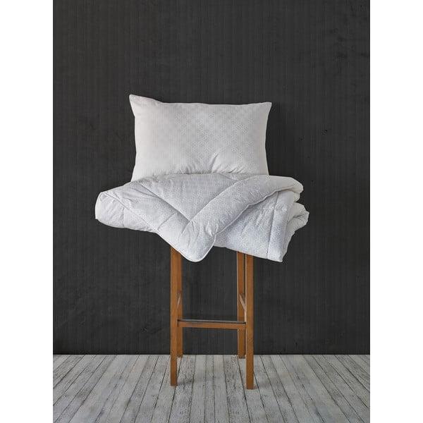 Perina z mikrovlákna Grey Quilt, 155x215 cm