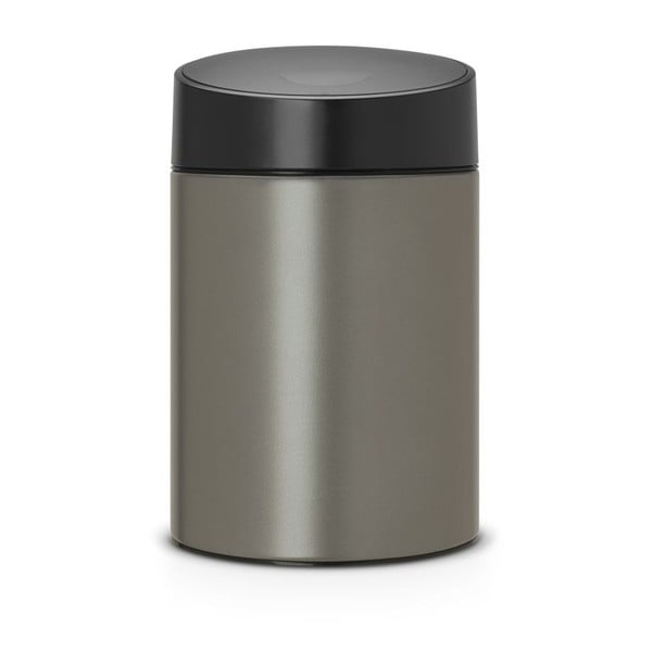Odpadkový kôš Slide Bin, 5 l, tmavo sivý