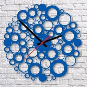 Nástenné hodiny Blue Bubble