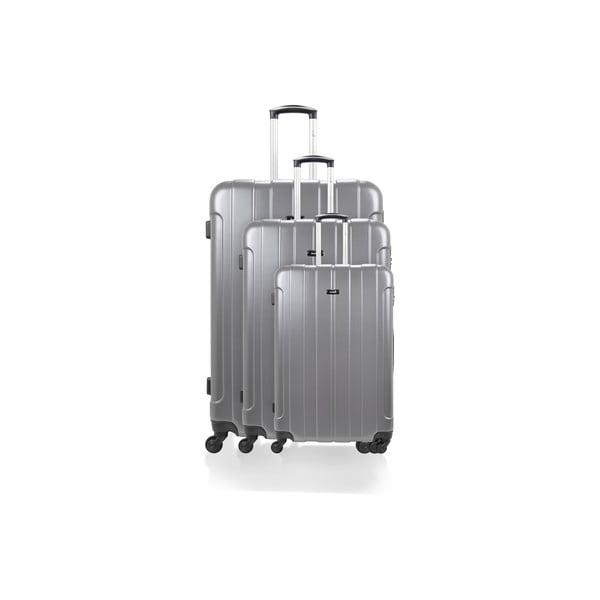 Sada 3 kufrov Roues Cadenas Grey, 105 l/72 l/40 l