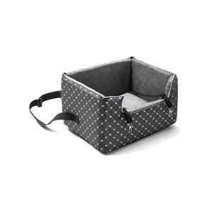 Sivá prepravná taška pre psa do auta Marendog Paws, 40 × 47 × 25 cm