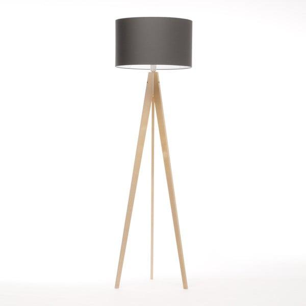 Tmavosivá stojacia lampa 4room Artist, breza, 150 cm
