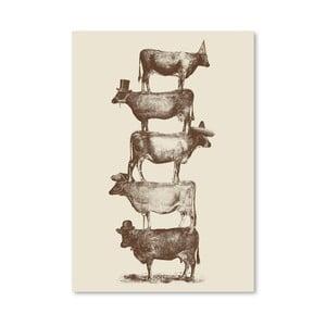 Plagát Cow Cow Nuts od Florenta Bodart, 30x42 cm