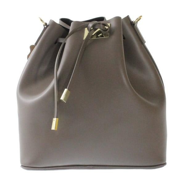 Taupe kožená taška Erica