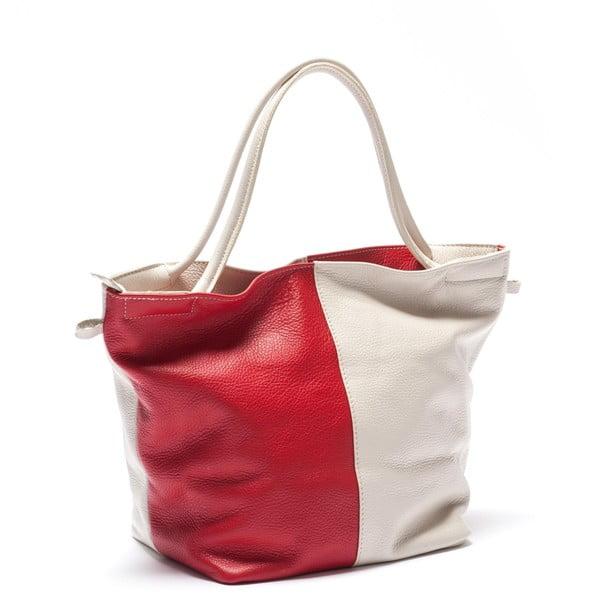 Kožená kabelka Mangotti 1168, červená