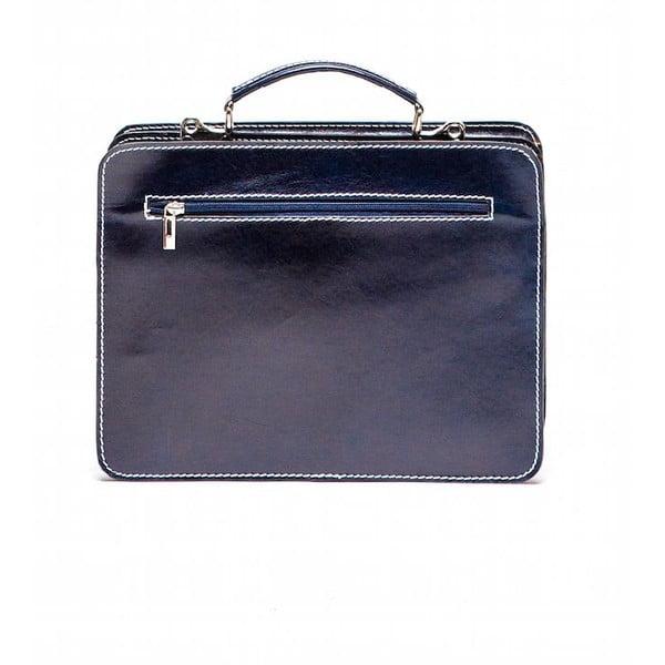 Modrá kožená kabelka Isabella Rhea no. 305