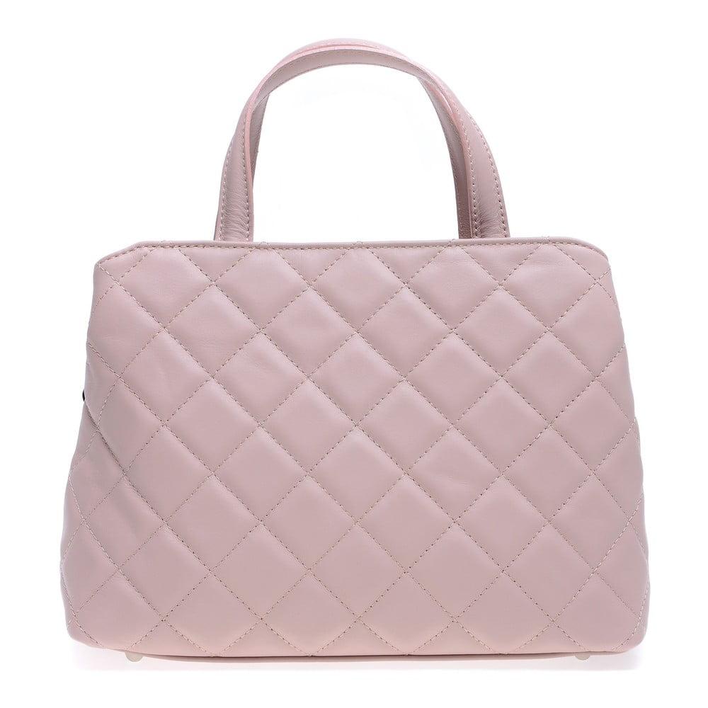 Ružová kožená kabelka Roberta M Allesia