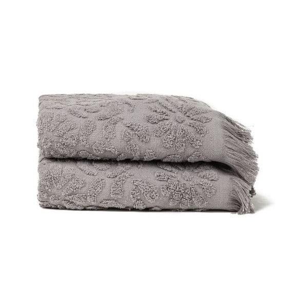 Set 2 uterákov Riad Face Grey, 50x90 cm