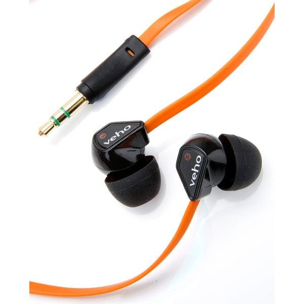 Oranžové slúchadlá do uší Veho Z1