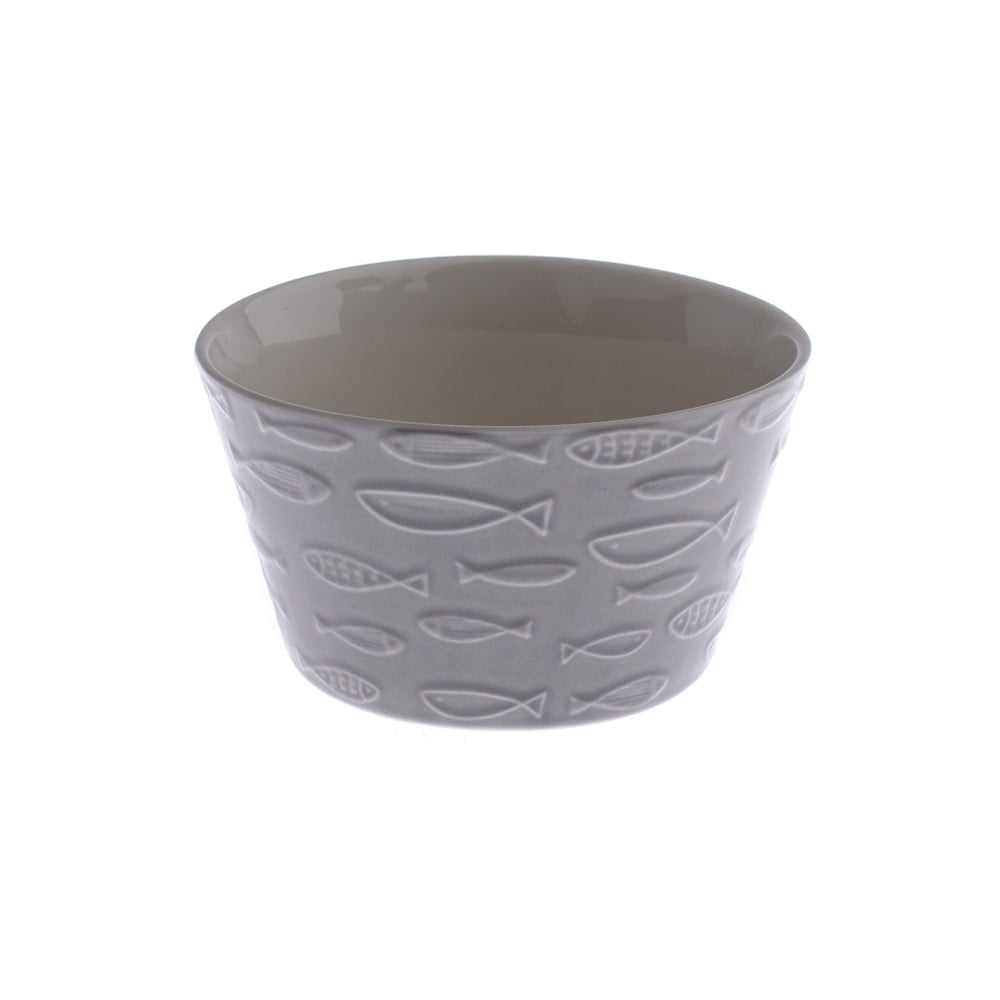 Sivá keramická miska Dakls Fish, 570 ml