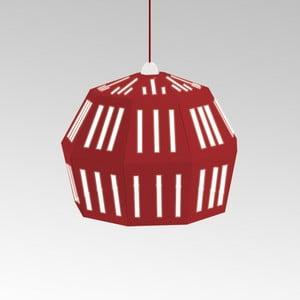 Kartónové svietidlo Uno Fantasia C Red, s červeným káblom