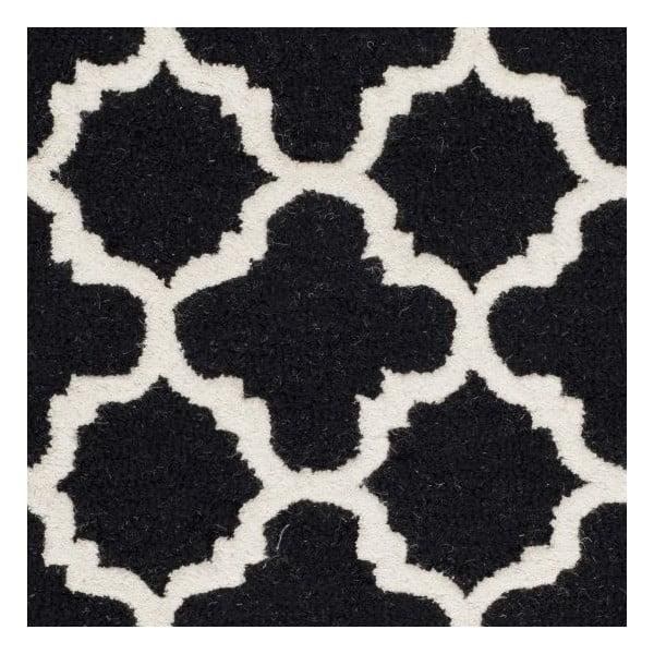 Vlnený koberec Bessa Black, 121x182 cm