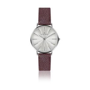 Dámske hodinky s remienkom v bordovej farbe z pravej kože Frederic Graff Silver Monte Rosa Lychee Bordeaux Leather