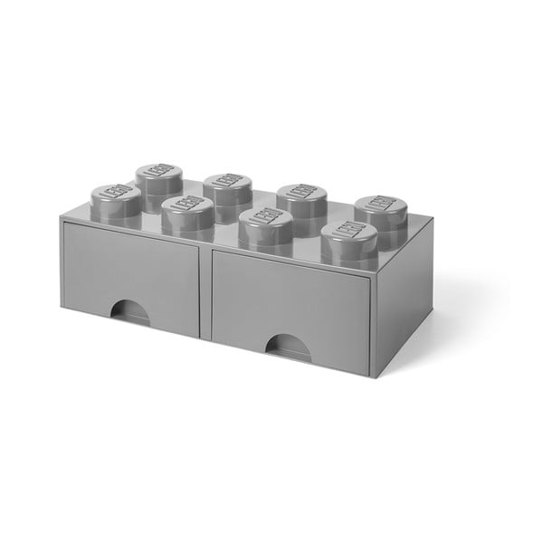 Sivý úložný box s dvoma zásuvkami LEGO®