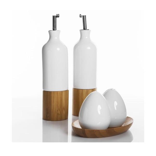 Sada soľničky, koreničky a fľaše na olej a ocot Oliandra