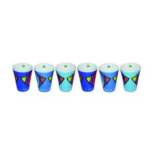 Sada 6 hrnčekov na expresso Bleu Poisson, 100 ml