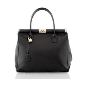 Čierna kožená kabelka Glorious Black Antonella