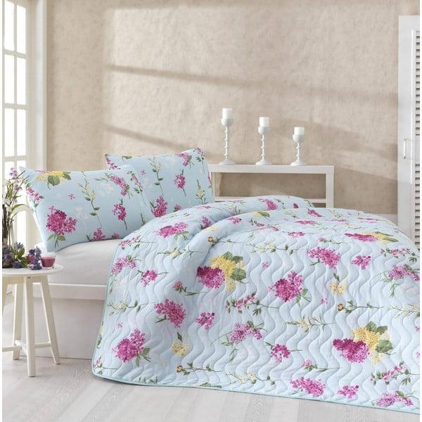 Sada prikrývky cez posteľ a dvoch obliečok na vankúš Lilac Pink, 200x220 cm