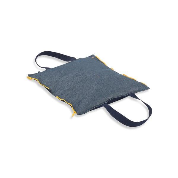 Skladací sedák Hhooboz 50x60 cm, tmavo modrý