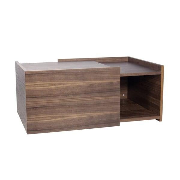 Konferenčný stolík v dekore orechového dreva TemaHome Double