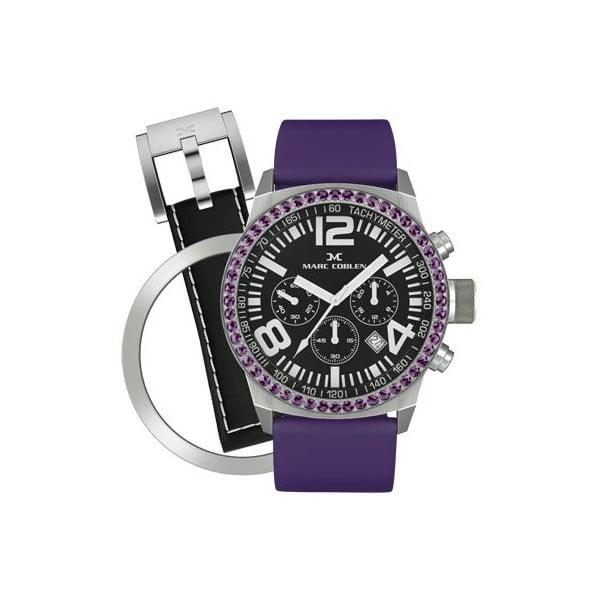 Dámske hodinky Marc Coblen s remienkom a ozdobou ciferníku naviac P13