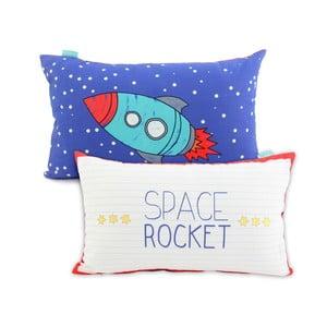 Bavlnená obliečka na vankúš Mr. Fox Space Rocket, 50 x 30 cm