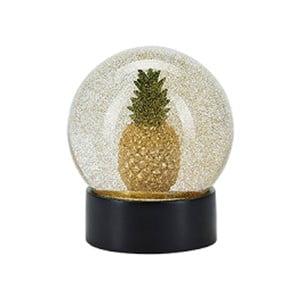 Snežítko s trblietkami v zlatej farbe s LED osvetlením Miss Etoile, Pineapple