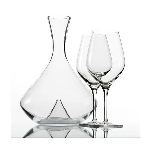 Set 2 pohárov a dekantéru na víno Exquisit