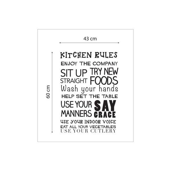 Vinylová samolepka na stenu Kitchen Rules