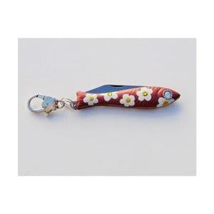 Český nožík rybička s motívom kvetín v dizajne od Alexandry Dětinskej