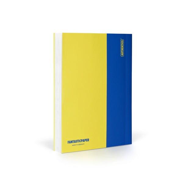 Zápisník FANTASTICPAPER A6 Lemon/Blue, čistý