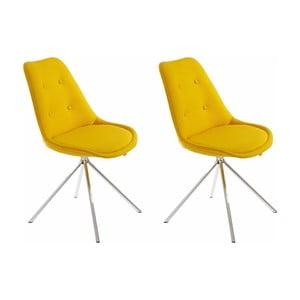 Sada 2 žltých jedálenských stoličiek Støraa Dylan