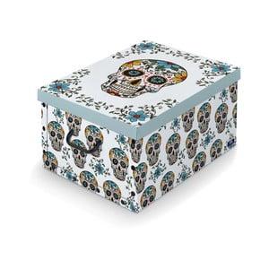 Úložný box s rukojetí Domopak Lebky, dĺžka 50 cm